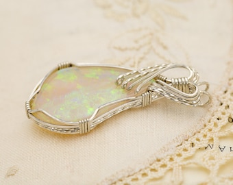 Crystal Opal Sterling Silver Pendant 17.25ct (CY38-P)