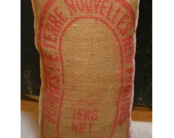 Hessian Recycled Potato Sack Soft Scatter Cushion Pillow Burlap Hemp Home Decor Printed Over locked Edges