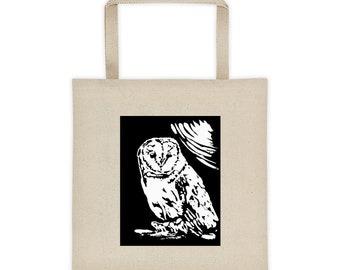 Barn Owl Print Cotton Canvas Tote bag