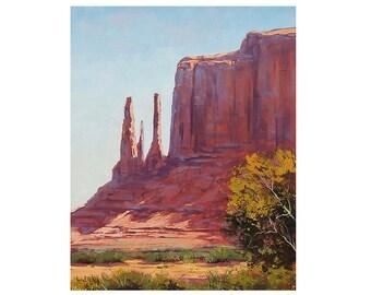 DESERT PAINTING Landscape Art three sisters utah canyon landscape Painting