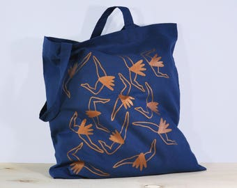 Tote bag screenprinted, Cotton bag, gift for her