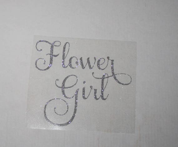 Flower girl iron on decal transfer bridal bachelorette party diy flower girl iron on decal transfer bridal bachelorette party diy do it yourself silver glitter bride iron on for t shirt hats sweats from brantleyhudson solutioingenieria Gallery