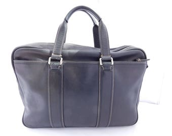 Coach Vintage Black Leather Briefcase Laptop Bag