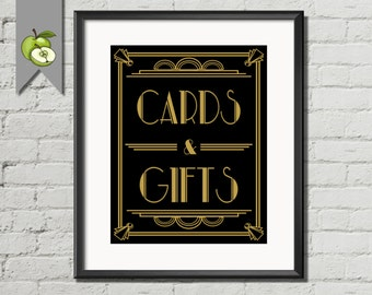 Art Deco, cards and gifts, art deco, Great gatsby, Gold and black, newlywed, DIY printable, Card & Gift, DIY Bride, AD2