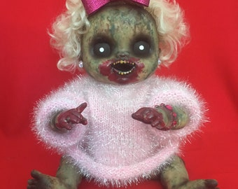 Irra Tation is a OOAK zombie baby art doll