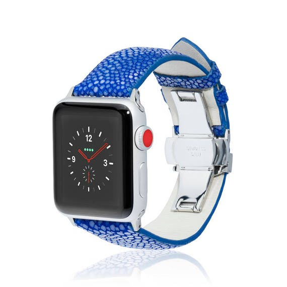 Apple Watch Band - Stingray - more colors available - stainless steel and leather