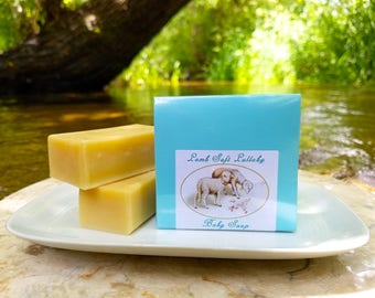 """Baby Soap - """"Lamb Soft Lullaby"""" Unscented Soap, Lamb Soap, Olive Oil Soap, Baby Shower Soap, Baby Boy, Baby Gift Soap, Sheep Soap"""