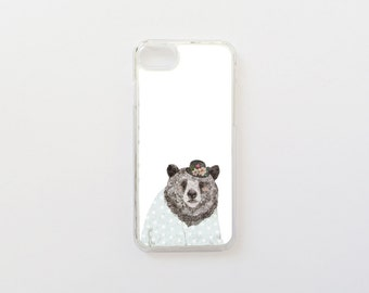 iPhone 7 Case - Bear iPhone Case - iPhone 8 Case - Cute iPhone Case - Special Collaboration with Daniela Dahf- Hard Plastic or Rubber
