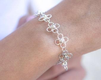 925 sterling silver bracelet - chain link bracelet - womens bracelet silver - 925 silver bracelet - sterling link bracelet