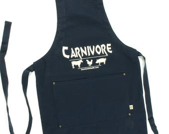 Zero Carb Carnivore Apron - Navy Blue