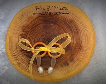 personalized ring bearer#wedding ring holder# wooden ring bearer#rustic ring bearer
