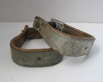Vintage Western Cowboy Saddle Stirrups Horse Tack Barn Decor