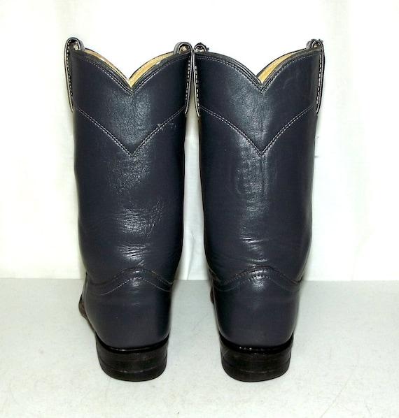 Boots B Western Country Cowgirl Roper Gray Folk Justin 5 Boho Womens Cowboy Grey a5qOt44x