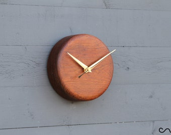 New Hand Turned Wooden Round Wall Clock Handmade
