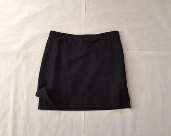 BCBG MaxAzria wool mini skirt   90s ultra mini side slit skirt   black tulip mini skirt