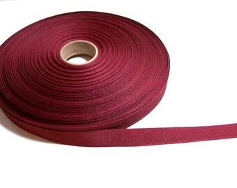 Burgundy Ribbon, Burgundy Grosgrain Ribbon 5/8 inch wide x 10 yards