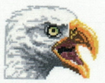 Bald Eagle counted cross-stitch chart