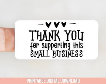 Thank You for Shopping Small Packaging Sticker Design for Thermal Printers
