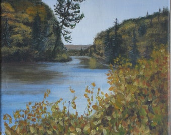 White pine at Agawa River. Original Acrylic Painting