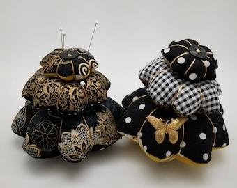 Black/Gold 3-tiered Pin Cushion