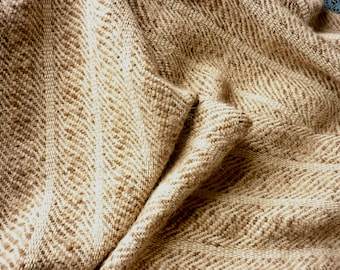 Handwoven Natural Shawl Super Soft Alpaca & Silk, Earth Tones for Spring, Summer, Fall, Winter