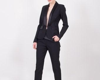 SALE 30% Off, Black Jacket, Black Blazer, Black Fashion Jacket, Short Black Coat, Womens Jacket, Womens Blazer, Elegant Jacket