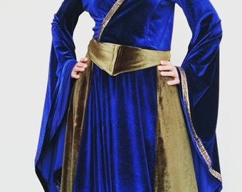 Medieval dress, Costumes, Elven dress, Women medieval dress, Womens clothing, medieval costume, velvet dress, wedding medieval dress
