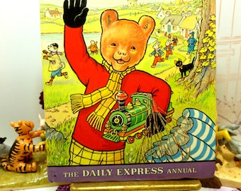 Rupert the Bear Annual 1976 Daily Express Excellent Vintage Rupert Story Book from the 1970s 3 Wise Monkeys Origami