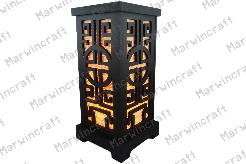 No screw asian oriental wood japanese lamp zen bedside lamp zoom aloadofball Image collections