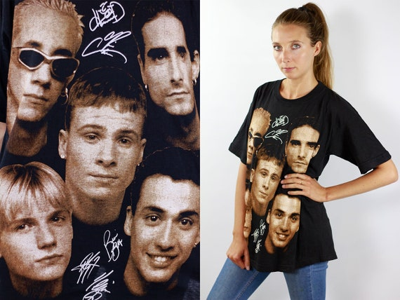 Backstreet Boys T-Shirt Backstreet Boys Shirt Vintage 90s T-Shirt Band T-Shirt Vintage Band Shirt Black T-Shirt Boyband T-Shirt Black Shirt
