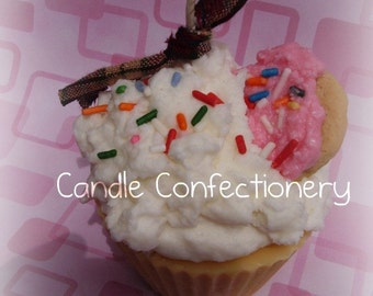 Sugar Cookie, Cupcake Candle, Cookie Candle, Food Scents, Cute Cupcake, Handmade Candles, Food Candle, Dessert Candle, Soy Wax Candle