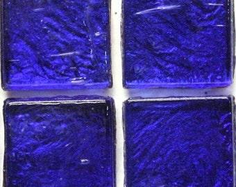 """15mm (3/5"""") Cobalt Blue Metallic Foil Backed Glass Mosaic Tiles//Mosaic//Mosaic Supplies//Crafts"""