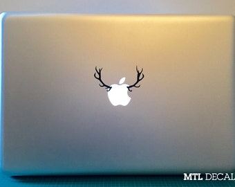 Antlers Macbook Decal / Deer Macbook Pro Sticker