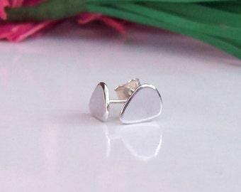 Plectrum Earrings , Silver plectrum earrings , Guitar Pick Earrings, music earrings,  Sterling Silver uk