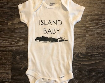 Island baby etsy island baby onesie baby boy onesie baby girl onesie custom onesie long negle Image collections