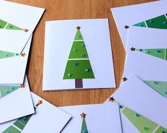 Holiday Tree Christmas Card Set
