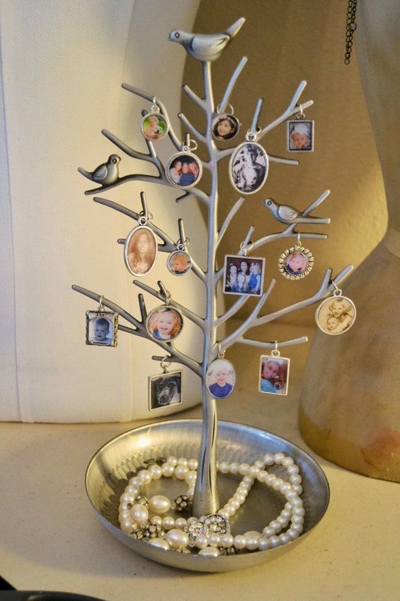 Jewelry Tree Display Stand Mothers Day Gift Photo Charm Pendants