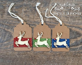Rudolph Sparkle Gift Tags (set of 3)