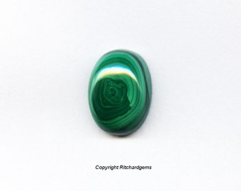 Natural 14x10mm Loose Oval 8.76ct Malachite Cabochons for One