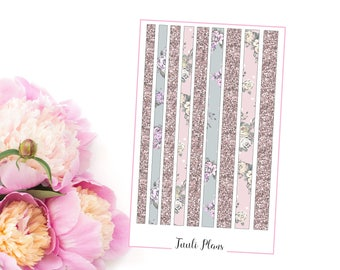 Planner stickers: washi strips - vintage floral (not ec size) | Perfect for your filofax / erin condren planner etc