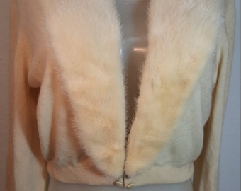 FREE  SHIPPING   1950 Cashmere Mink Sweater