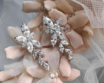 Cubic zirconia drop earrings - Esther