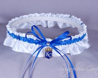 Kansas City Royals Wedding Garter - Ready to Ship