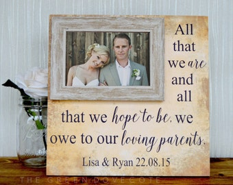Wedding Gift For Parents - Parents Wedding Thank You Gift - Parents Wedding Gift - Mother Of The Bride Gift - Father Of The Bride Gift