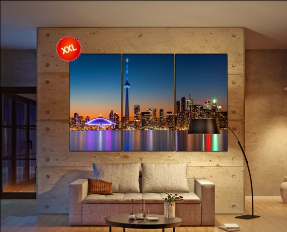 Toronto skyline  canvas Toronto skyline wall decoration Toronto skyline canvas art Toronto skyline large canvas  wall decor