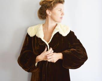 1920s/30s Silk Velvet Opera Coat