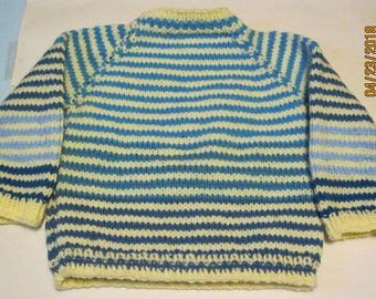 Seamless Knitted Raglan Long Sleeve Crew Neck Pullover Size 12 month