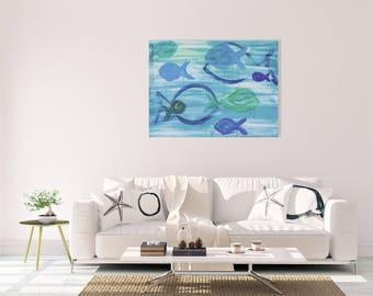 Coastal Wall Art / Beach House Painting / Acrylic Painting / Beach House Decor / Beach Painting / Coastal Decor / Nautical Painting