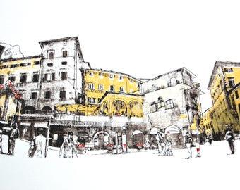 Sabato Promenade Limited Edition Screenprint