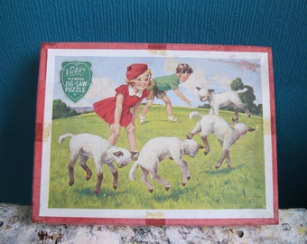 Vintage children's jigsaw. Victory plywood jigsaw puzzle.